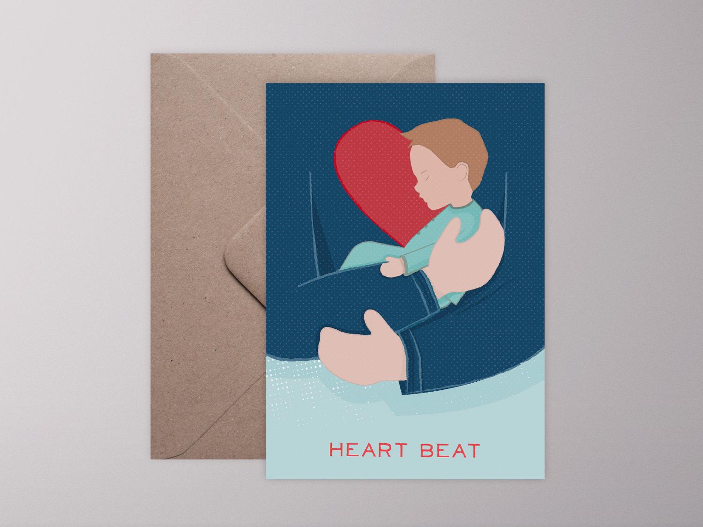 Klappkarte Heart Beat Boy