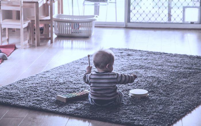 Pic of kid making music